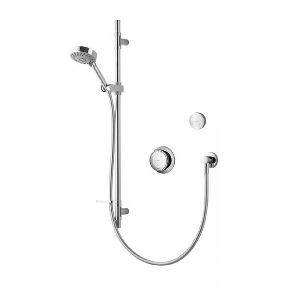 Aqualisa Rise Smart Single Outlet Shower Concealed With Adjustable Head And Remote Control RS.A2.02.18