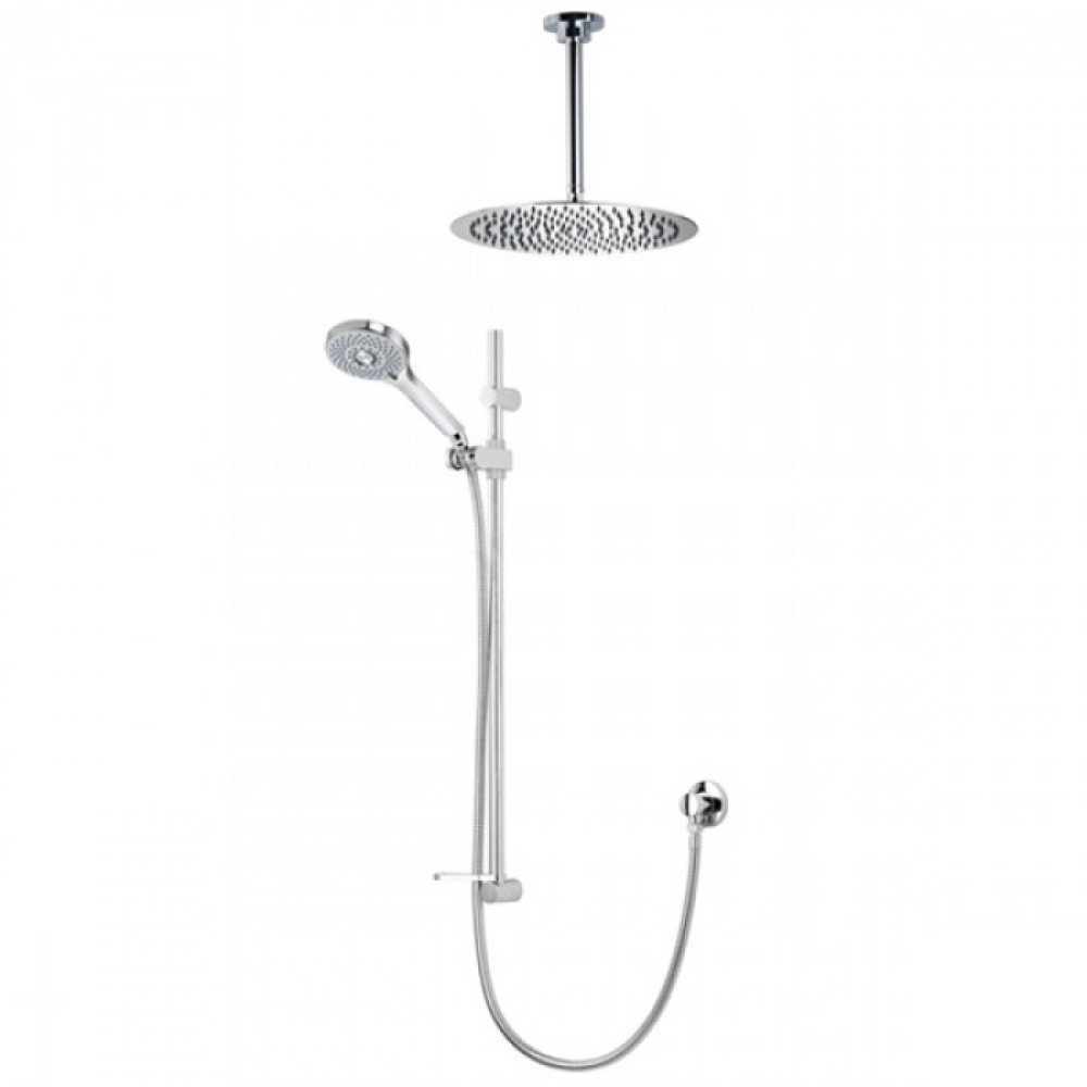 Aqualisa Vita Adjustable Handset With 250mm Round Fixed Ceiling Shower Head - OPN5008