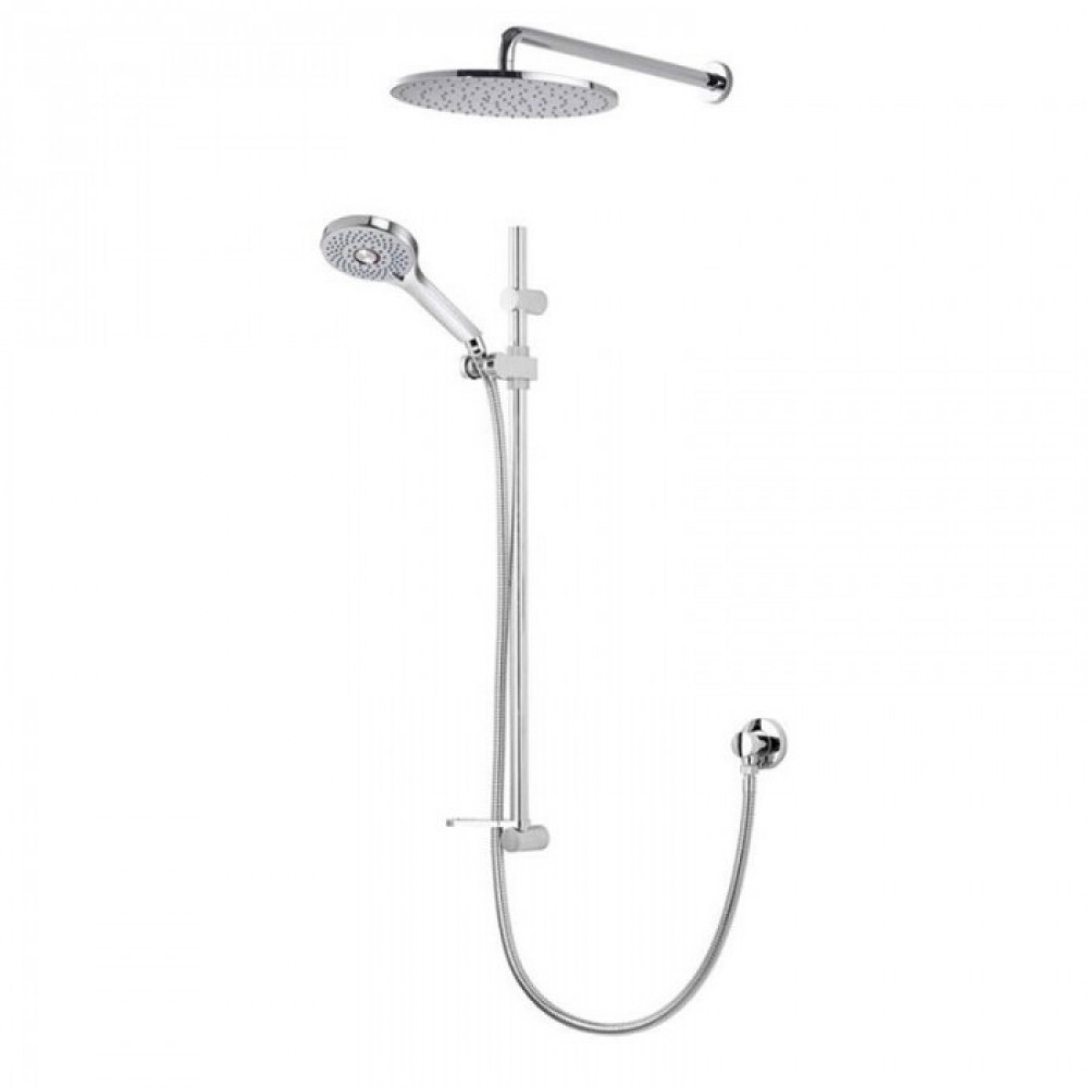 Aqualisa Vita Adjustable Handset With 250mm Round Fixed Wall Shower Head - OPN5009