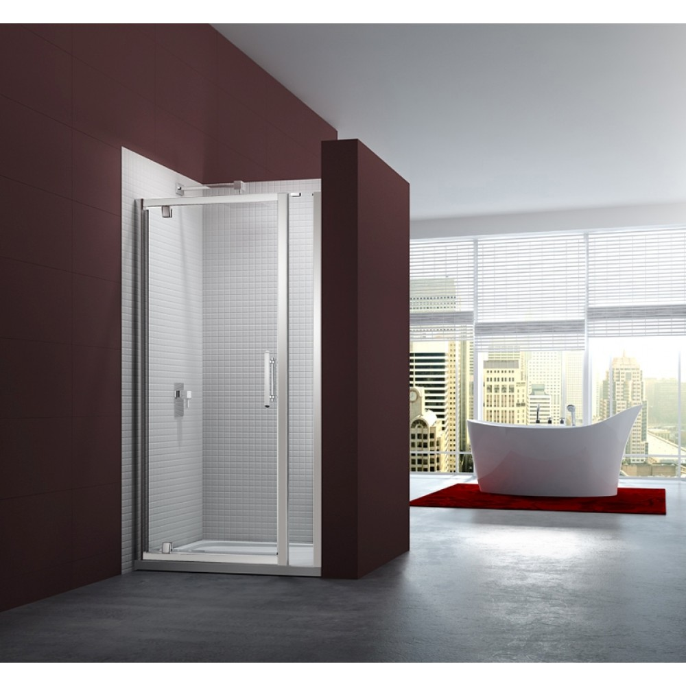 Merlyn Series 6 Pivot Door With Inline Panel