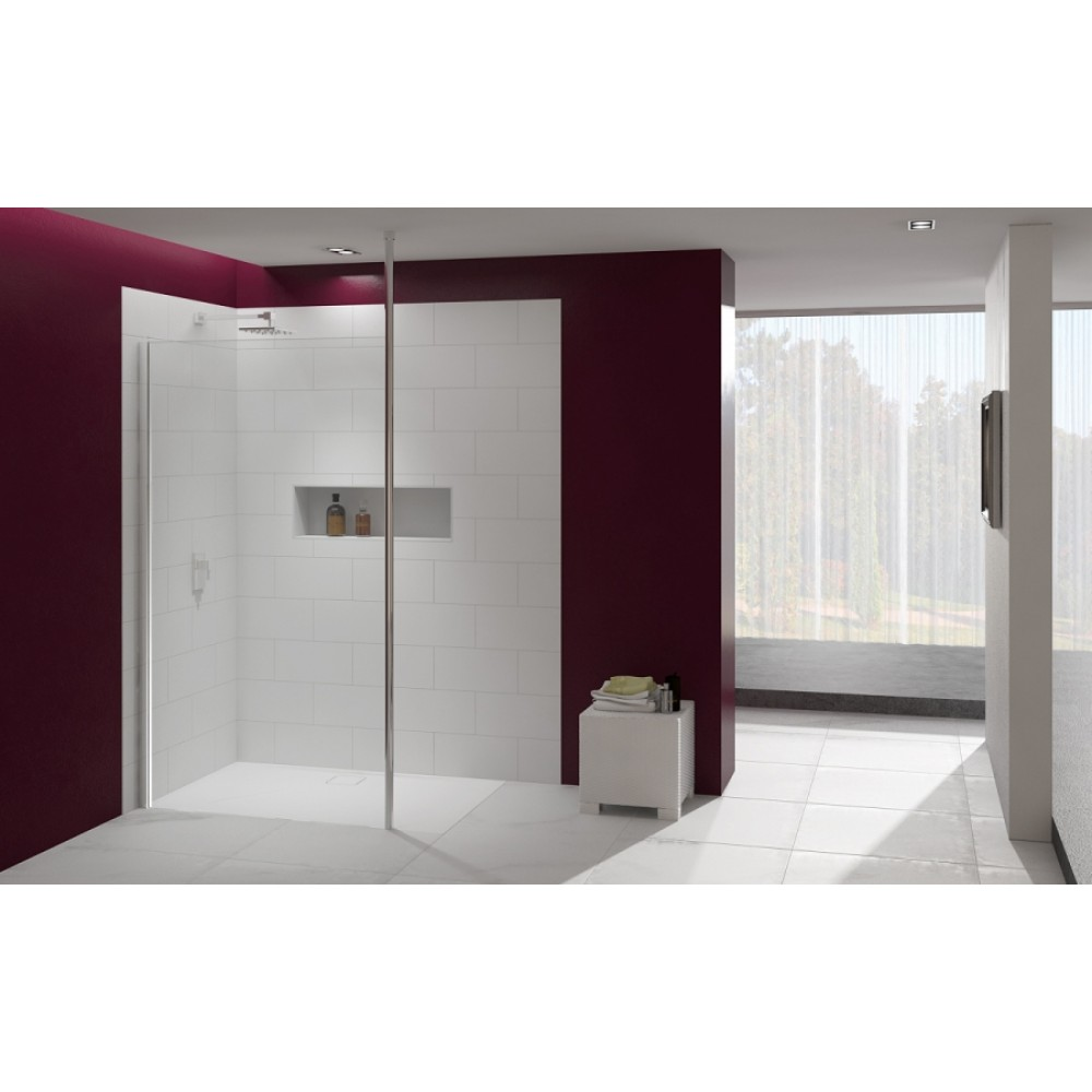 Merlyn Series 8 Showerwall with Vertical Post