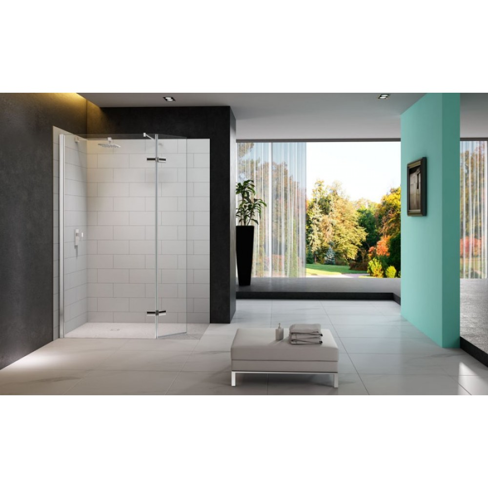 Merlyn Series 8 Showerwall with Hinged Swivel Panel