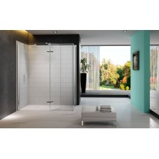 Merlyn Series 8 Walk In with Hinged Swivel Panel