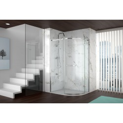 Merlyn Series 8 Frameless One Door Offset Quadrant