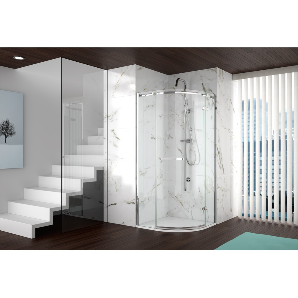 Merlyn Series 8 Frameless One Door Quadrant
