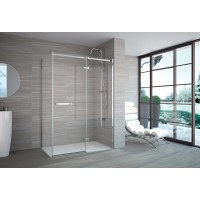 Merlyn Series 8 Frameless Hinge & Inline Door With Side Panel