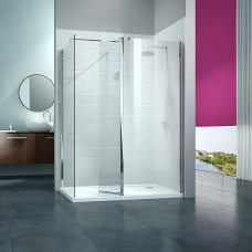 Merlyn Series 8 Walk In With Swivel Panel (with end panel)