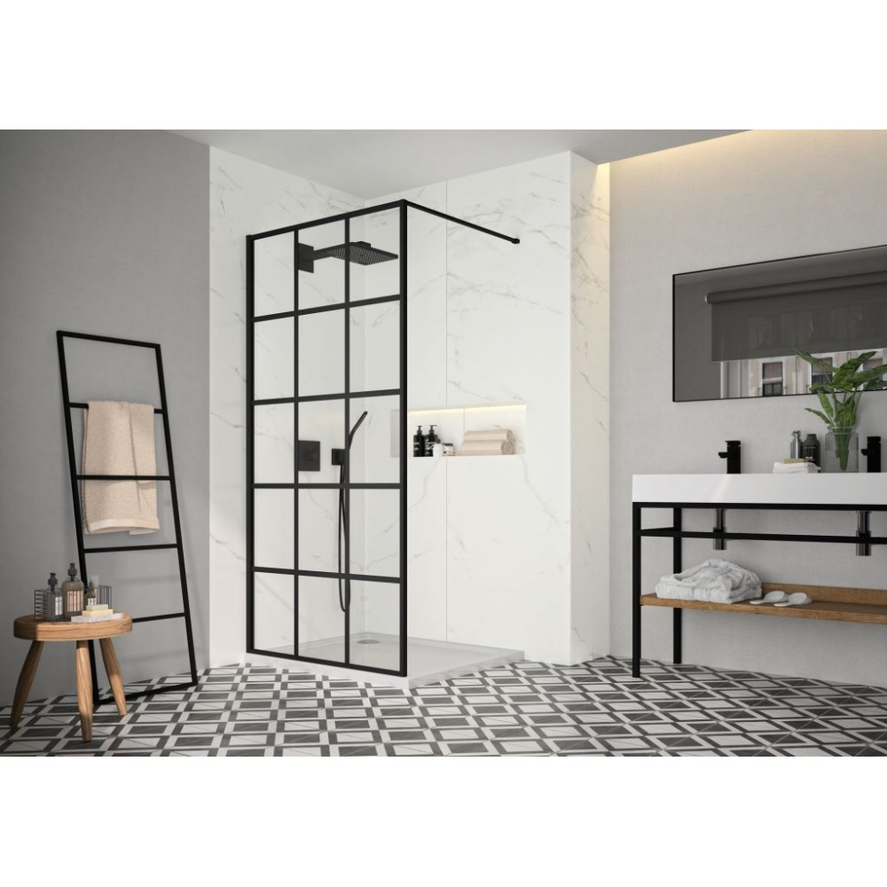 Merlyn Black Squared Shower Wall