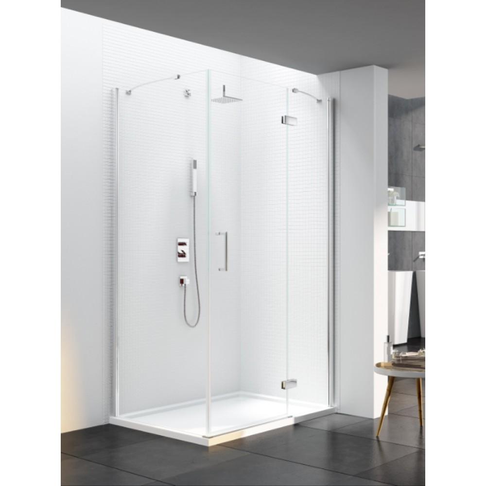 Merlyn Series 6 Frameless Hinge & Inline Door With Side Panel