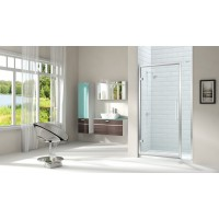 Merlyn Series 8 Hinged Door With Inline Panel