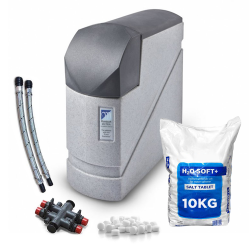 Monarch Plumbsoft Ultra Non-Electric Water Softener 15mm & 22mm Hose Kit + Free 10kg Salt