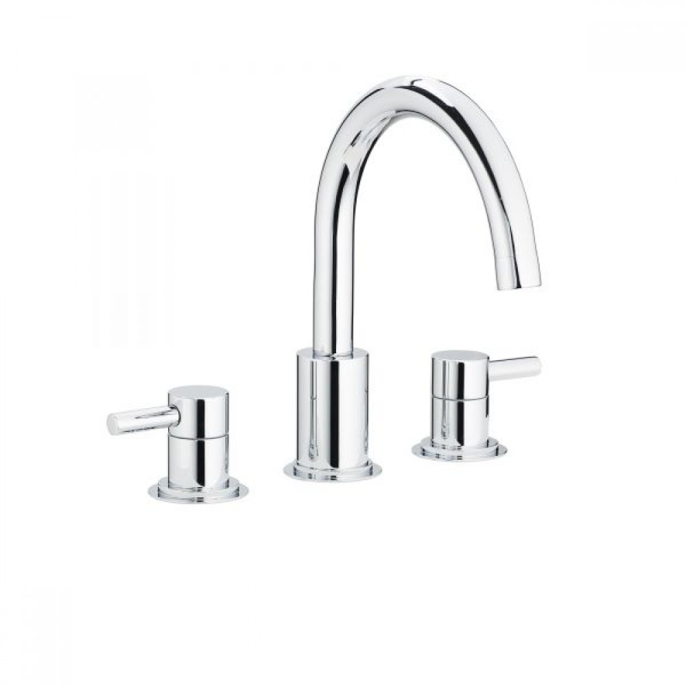Swadling Absolute Swan Neck Deck Mounted Basin Mixer - 6910