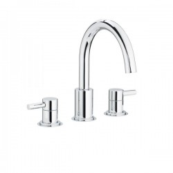 Swadling Absolute Swan Neck Deck Mounted Basin Mixer -6910