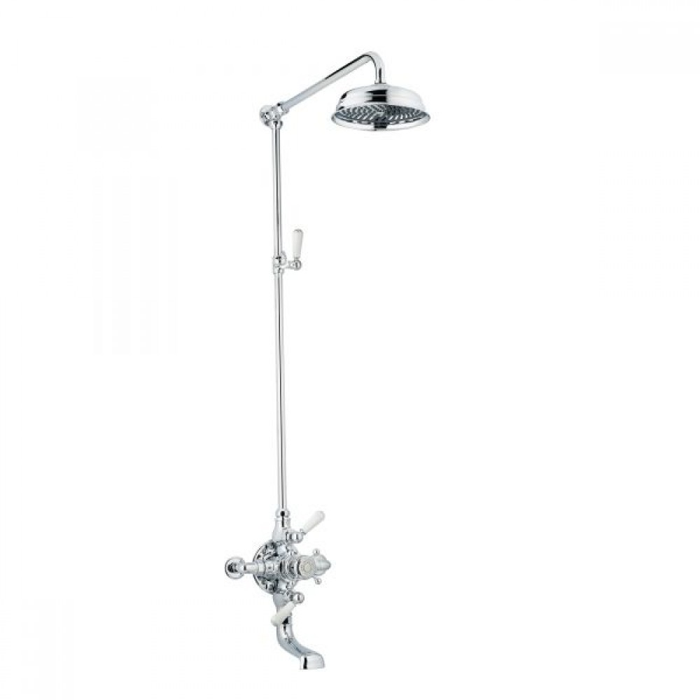 Swadling Invincible Double Exposed Shower Mixer, Rigid Riser Kit, Deluge and Integrated Bath Spout - 7530 - 7539