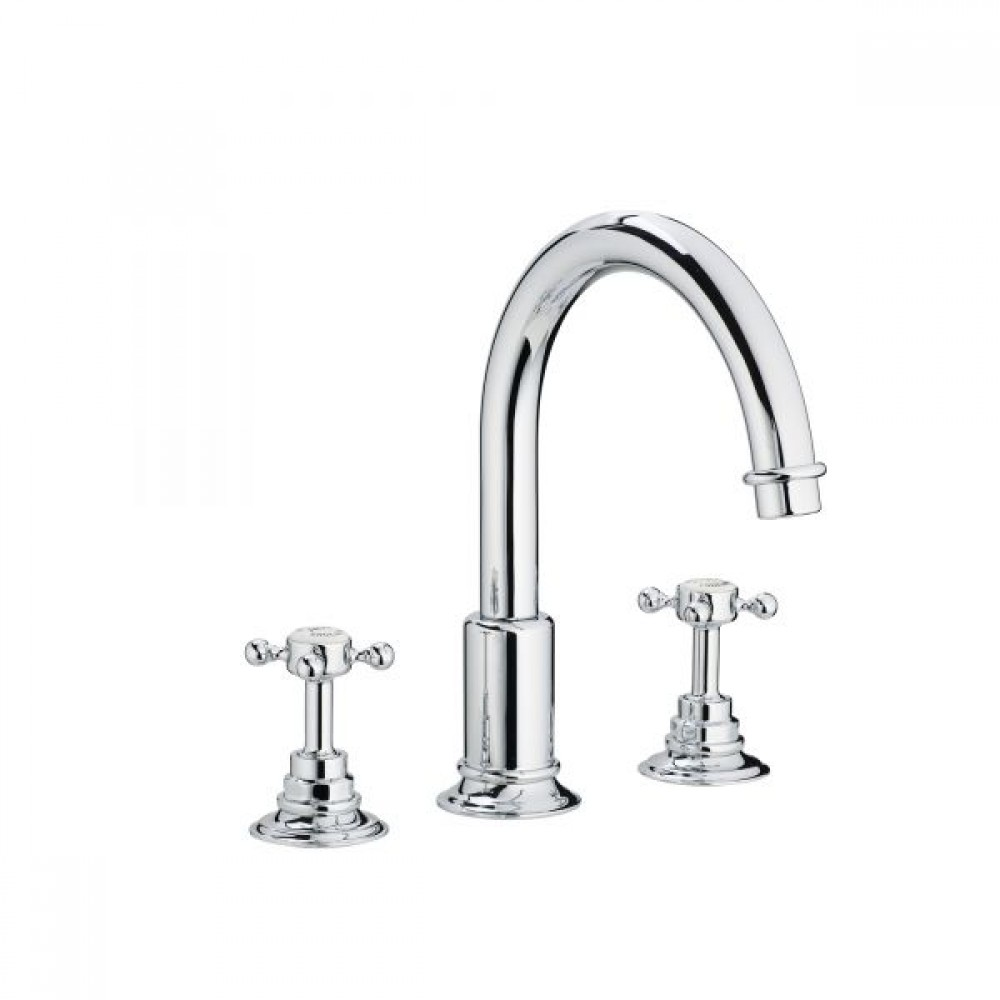 Swadling Invincible Swan Neck Deck Mounted Basin Mixer - 7910 - 7919